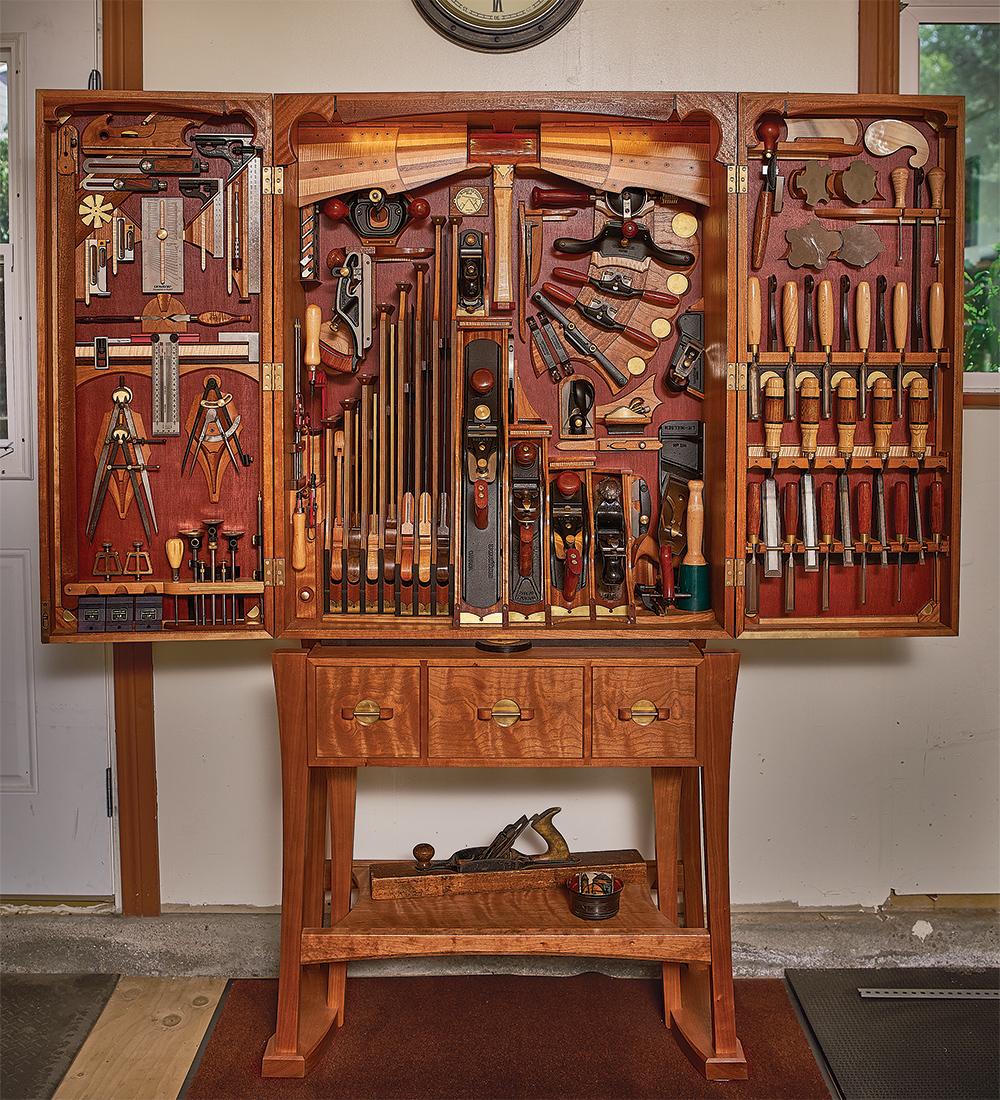 Carlo Bugatti tool chest with stand
