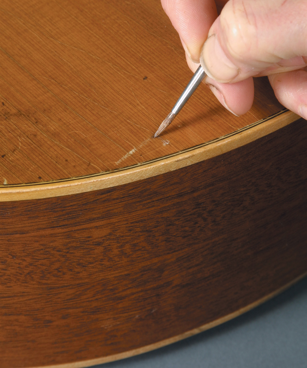 fixing scratched lacquer