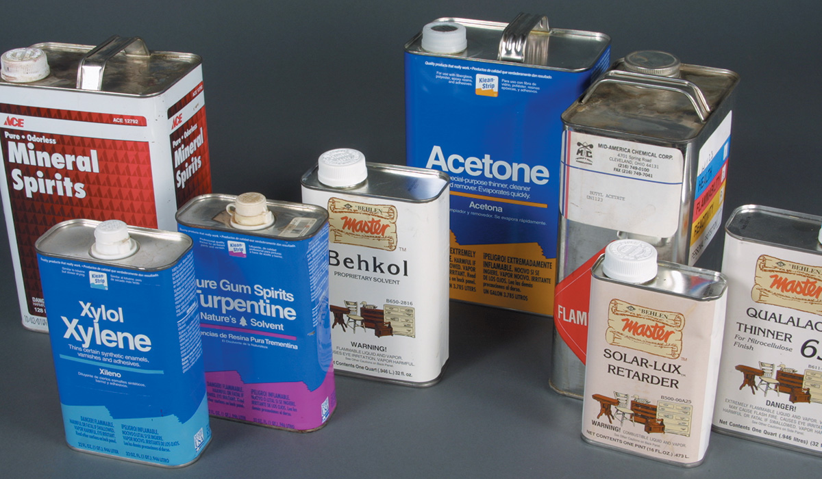 solvents used in all finishing products