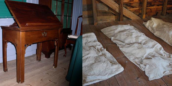 18th centruy desk and cloth