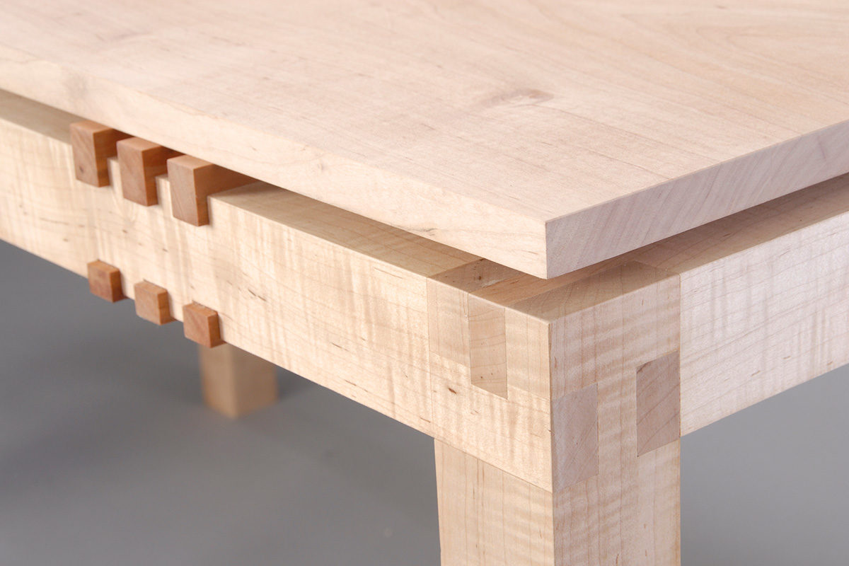 floating top table detail