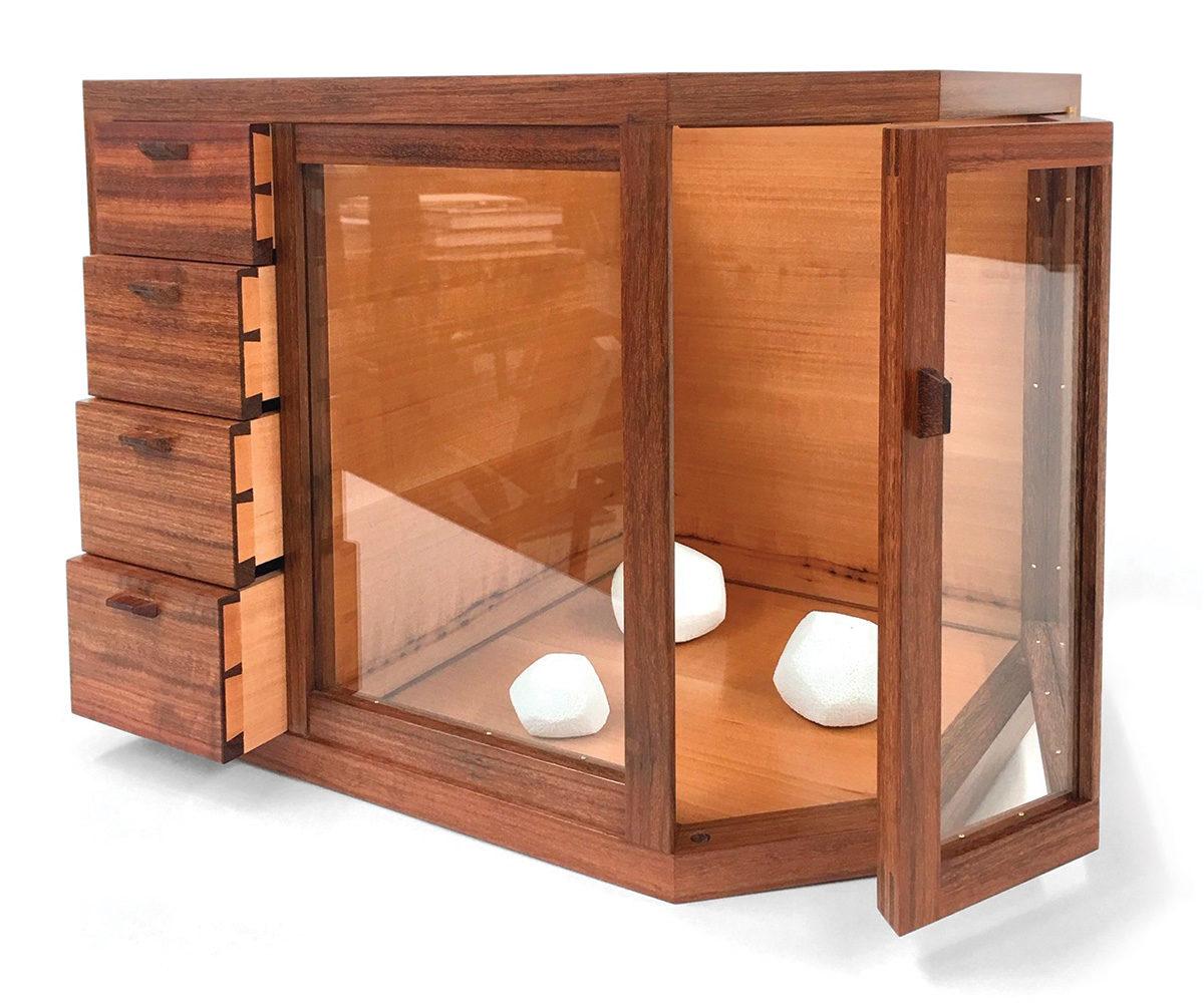tabletop display cabinet