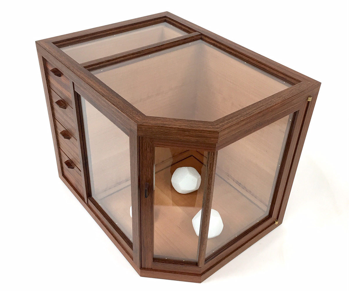 tabletop display cabinet top view