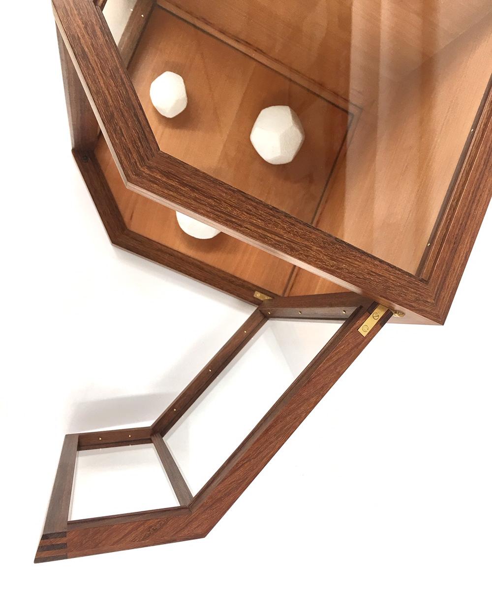 tabletop display cabinet door design