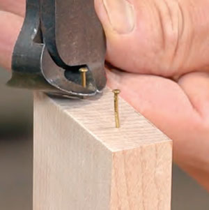 A jig-free dowel joint