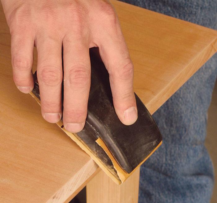 Hand sanding edges