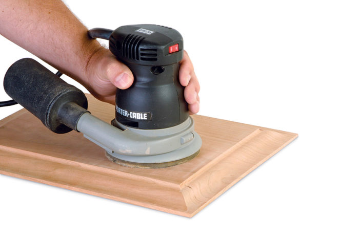 Power sanding large panels