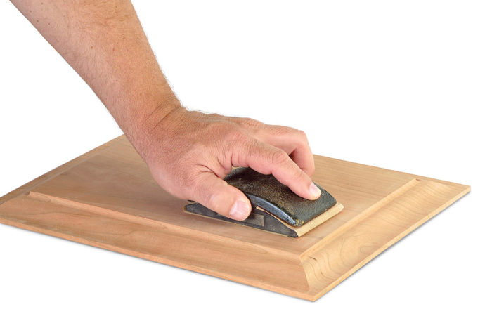 Hand sanding flat surfaces