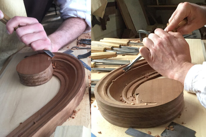 carving curved molding with hand tools