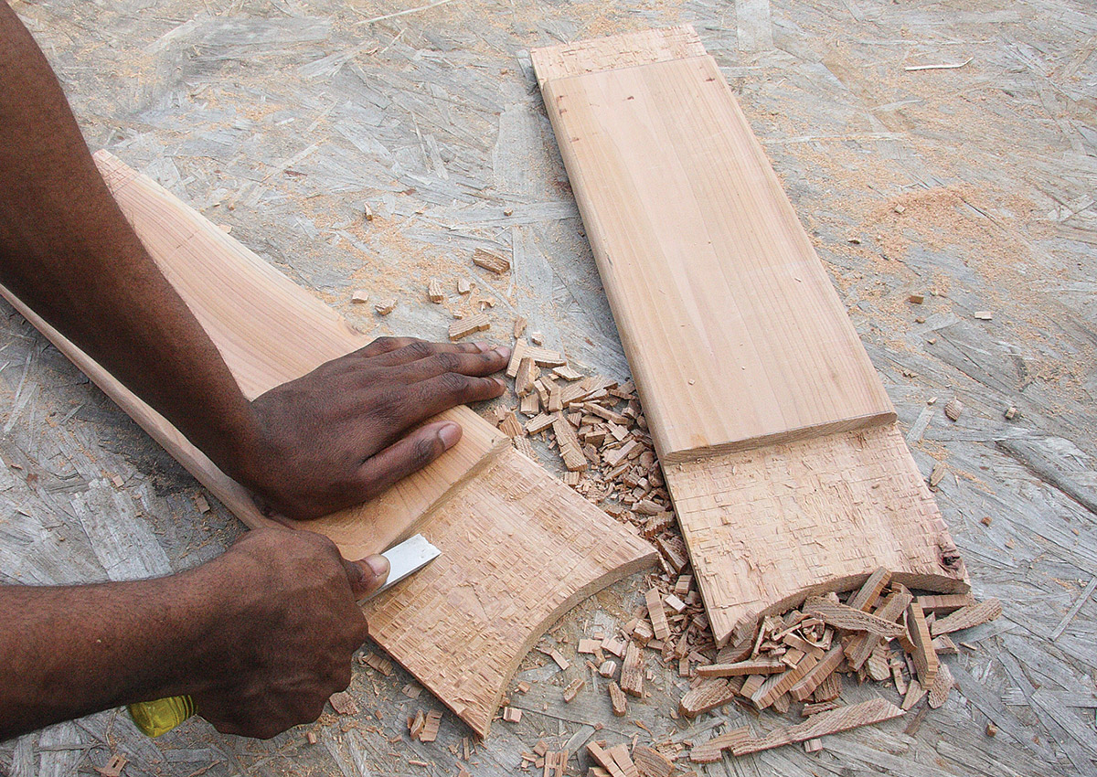 use a chisel to scrape away all the protrusions
