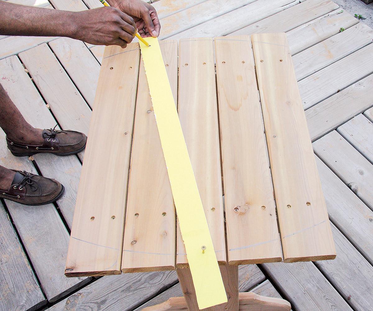 Make a trammel out of a strip of cardboard