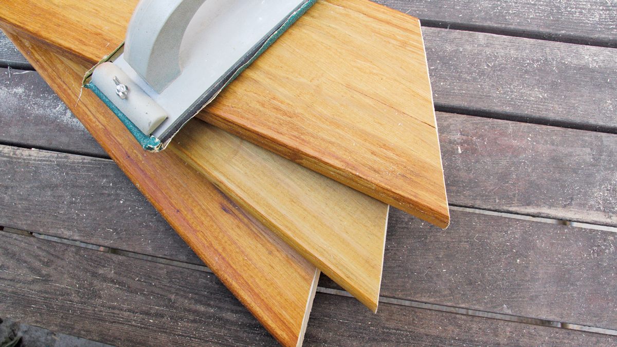6. Use a hand sanding block to ease (slightly bevel) the cut edges.