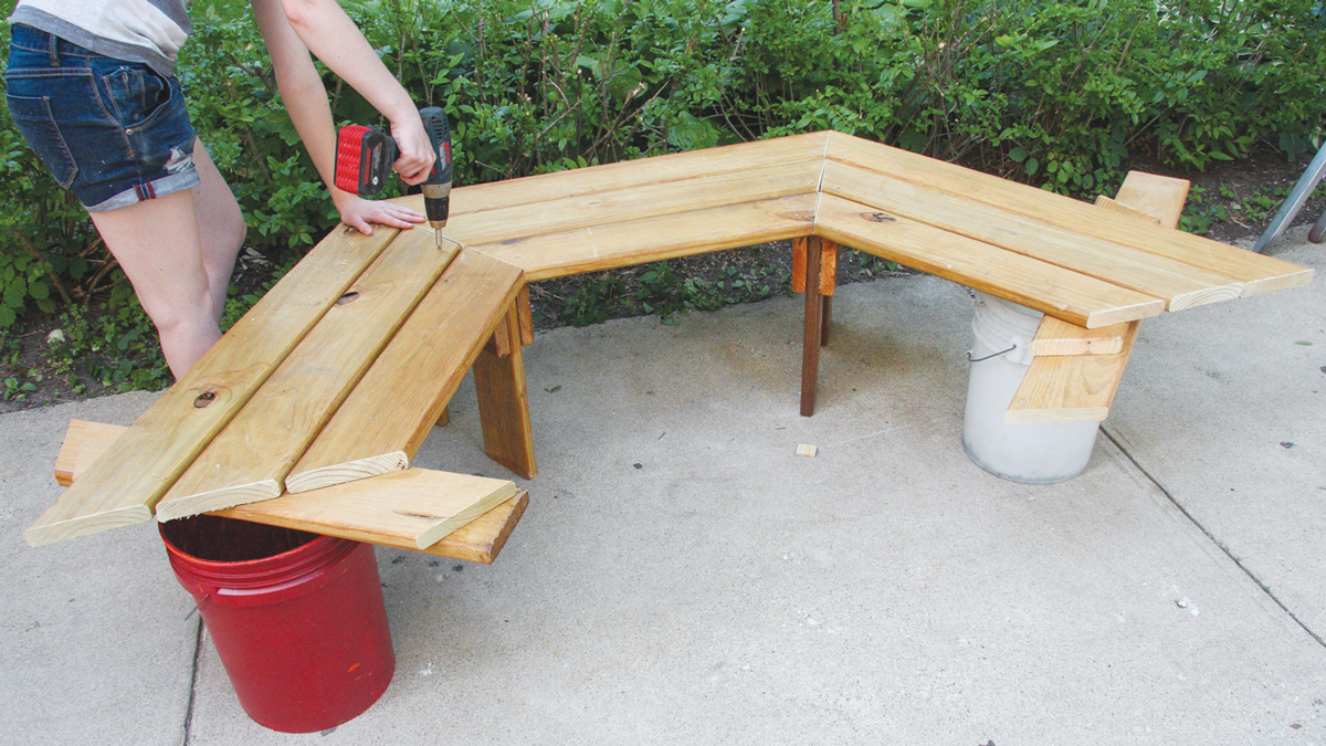 Build the other half of the bench.