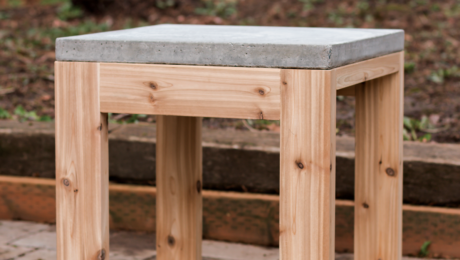 Table with Concrete Top