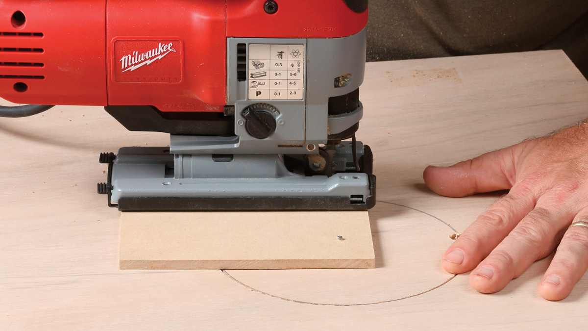 . If it is, you'll need to detach the saw and correct its alignment on the jig.