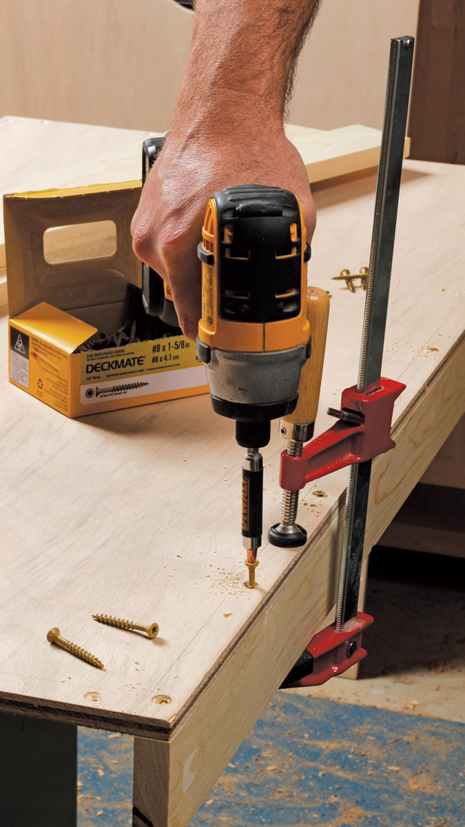 Cut these 4 ft. long, clamp them in place, and drill small pilot holes down into them to avoid splitting them.