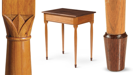 side table with carved details