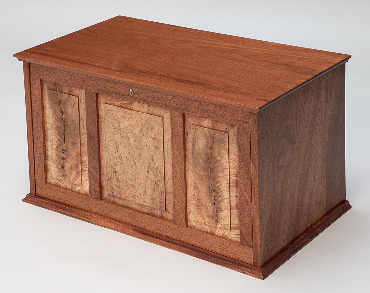 Mahogany NBSS Tool Box with door closed