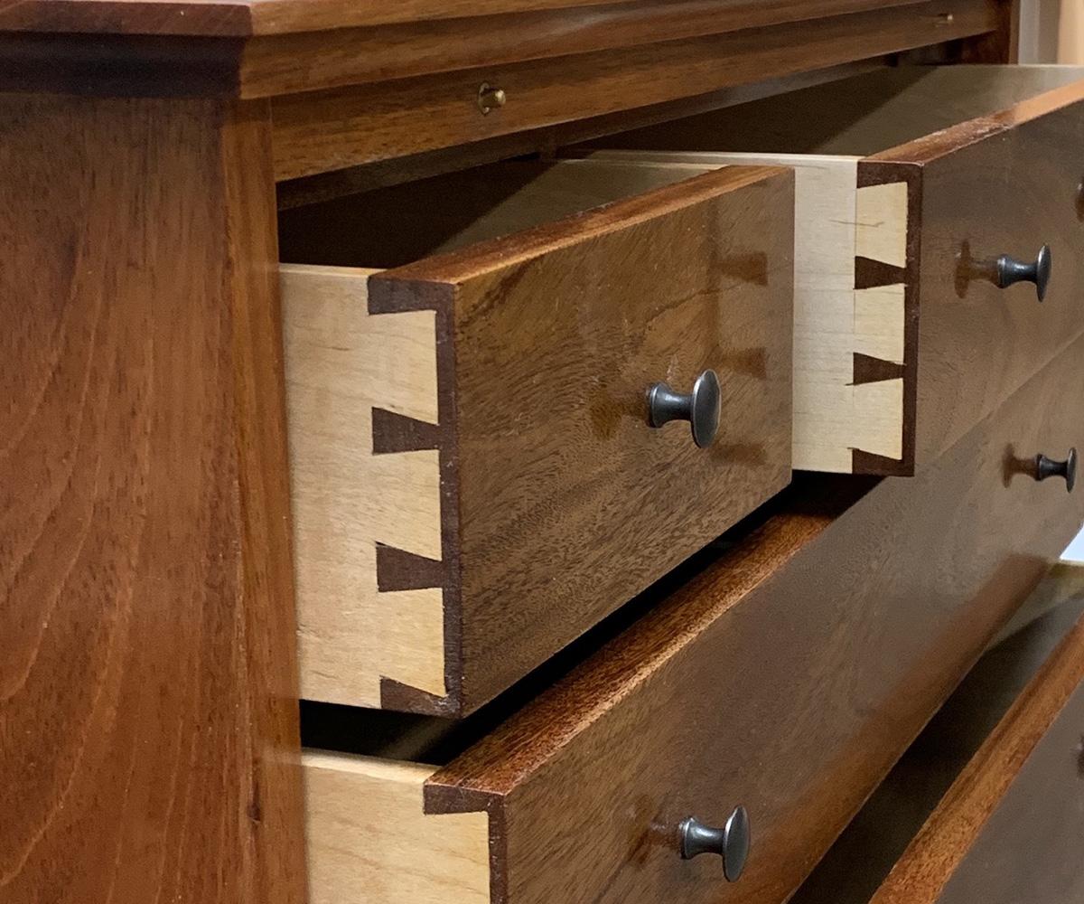 Mahogany NBSS Tool Box dovetails