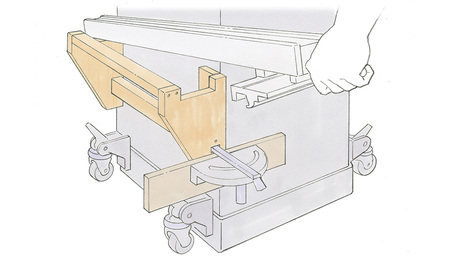 tablesaw rack