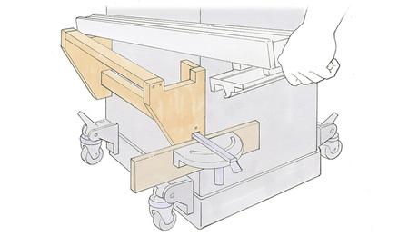 tablesaw rack