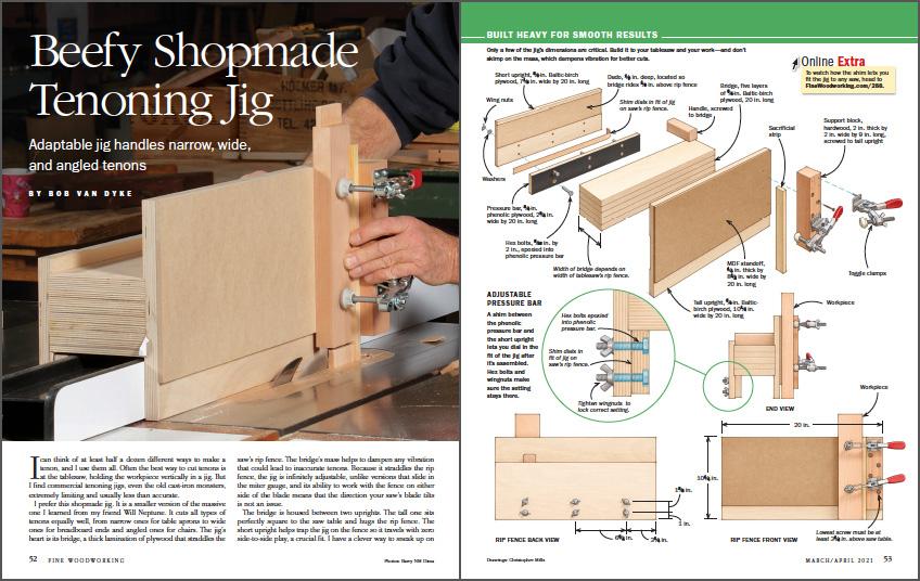 Shopmade tablesaw tenoning jig spread img
