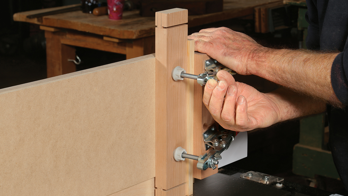 A carefully built jig makes for accurate tenons