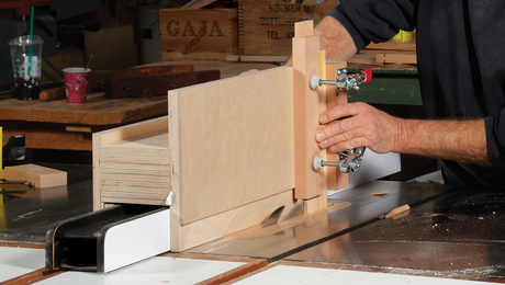 Shopmade tablesaw tenoning jig