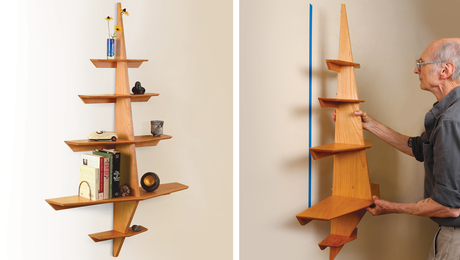 Ship-inspired wall shelf