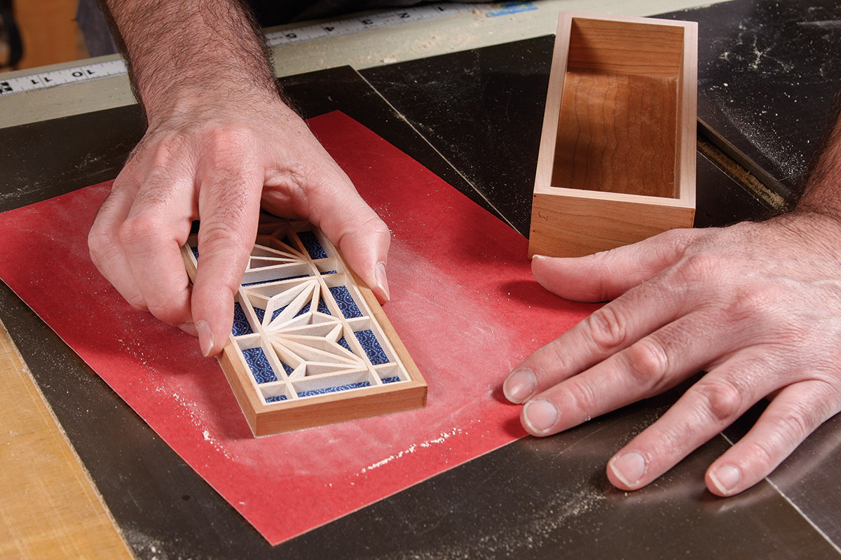 Sand the cut edges with a circular motion
