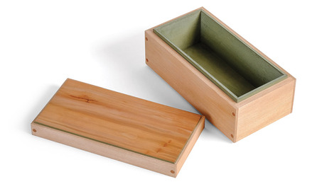 sycamore box with lid