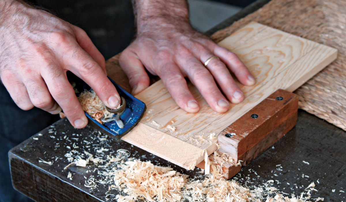 Cut the bevel with a block plane