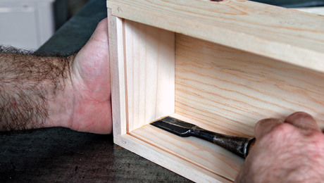 Shaker Candle Box assembly