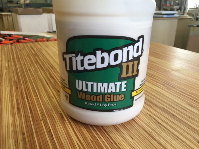 a large bottle of titebond three wood glue