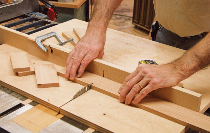 Cutting parts on a crosscut sled