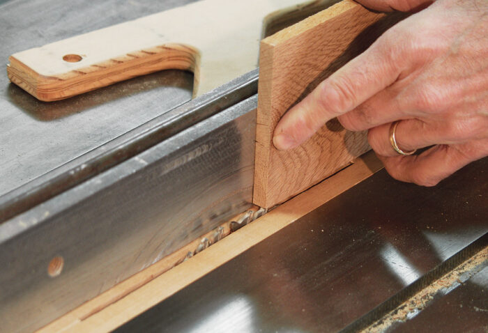 Setting the saw fence using stock