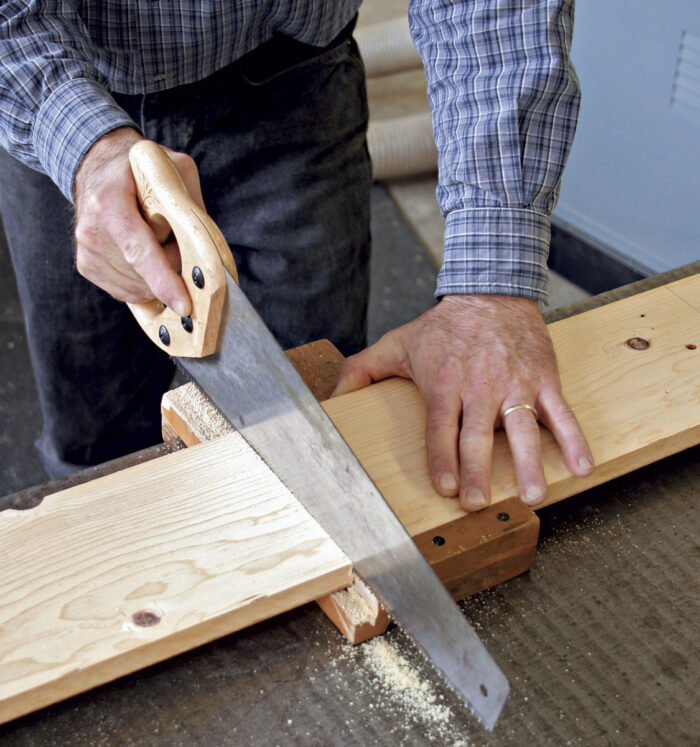 Cut lumber to oversize lengths.
