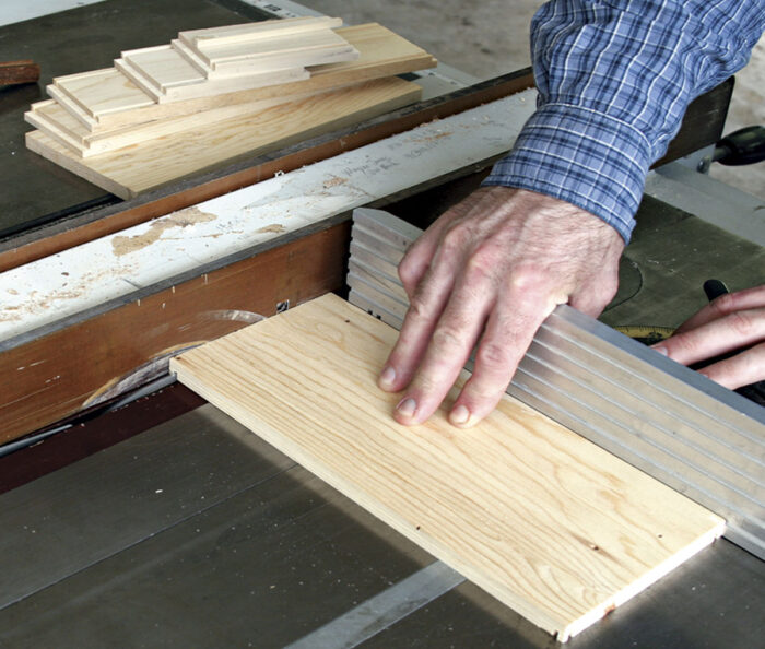 Use a miter gauge for stability.