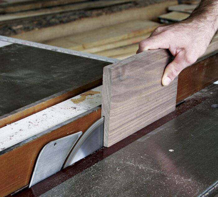 Test the blade cut on a scrap board.