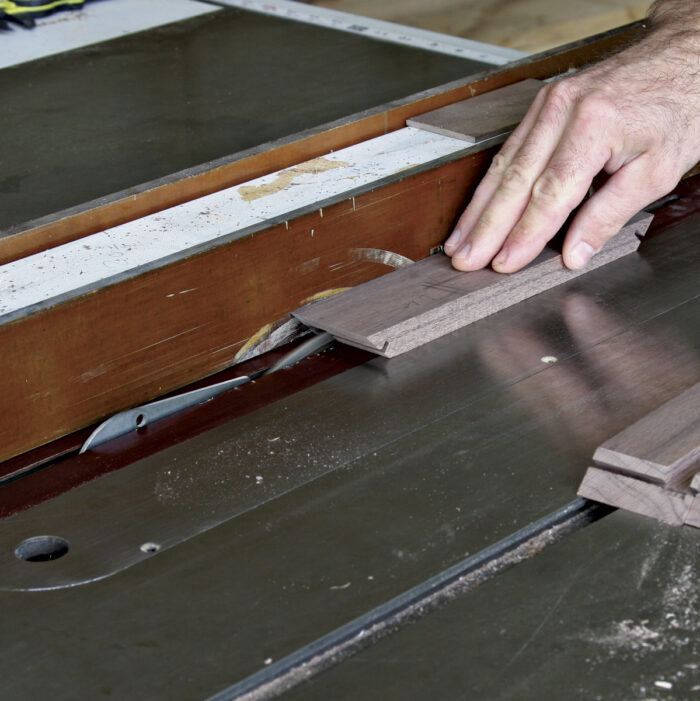 Make multiple passes to cut a 5/16 -in-deep groove.