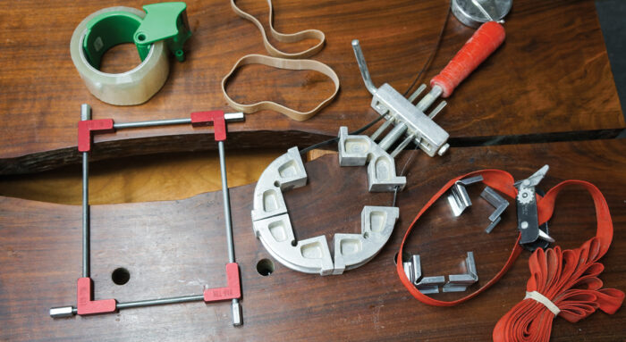 A variety of clamping tools