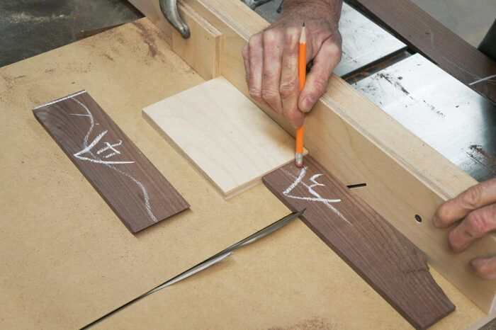 Using the miter sled to cut shorter parts