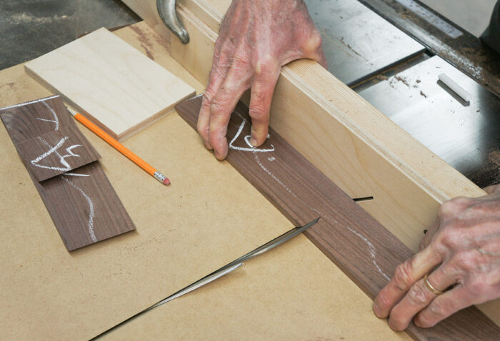 Using the miter sled to cut longer parts