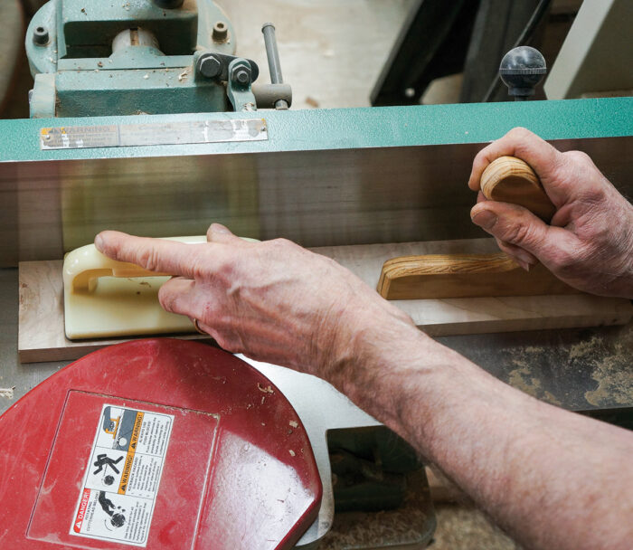Flatten the box lid on the jointer to remove the bandsaw marks