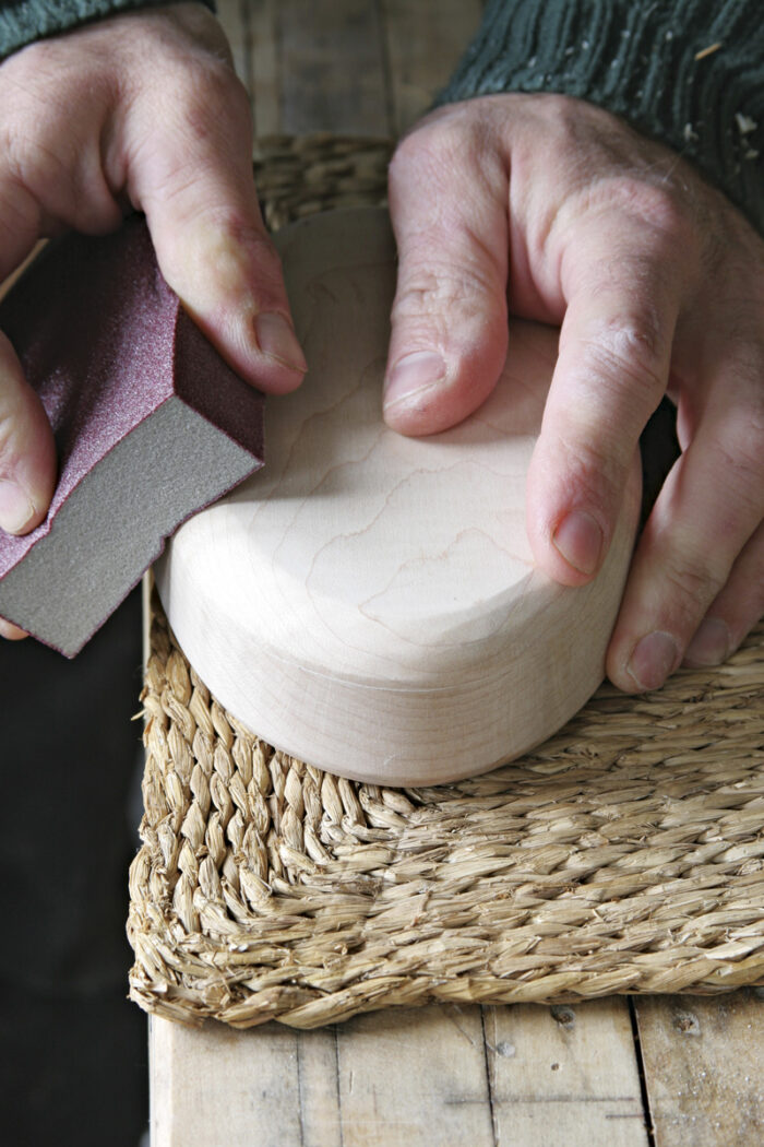 Use sanding sponges for final sanding.