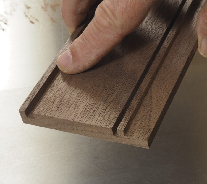 Use a jig to cut the grooves.