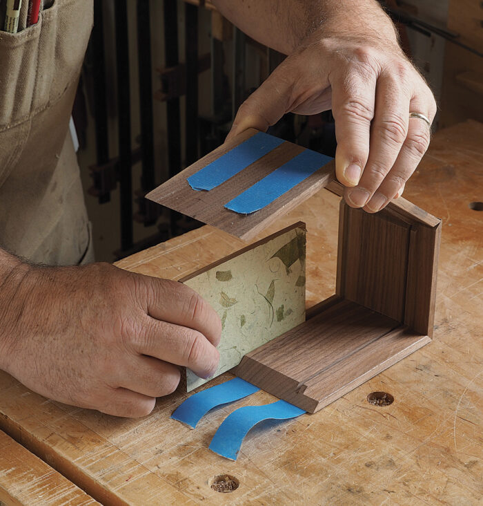 Glue up the box with the bottom in place.