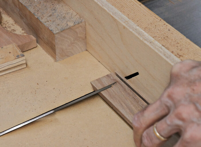 Each piece requires a 45-degree trimming cut.
