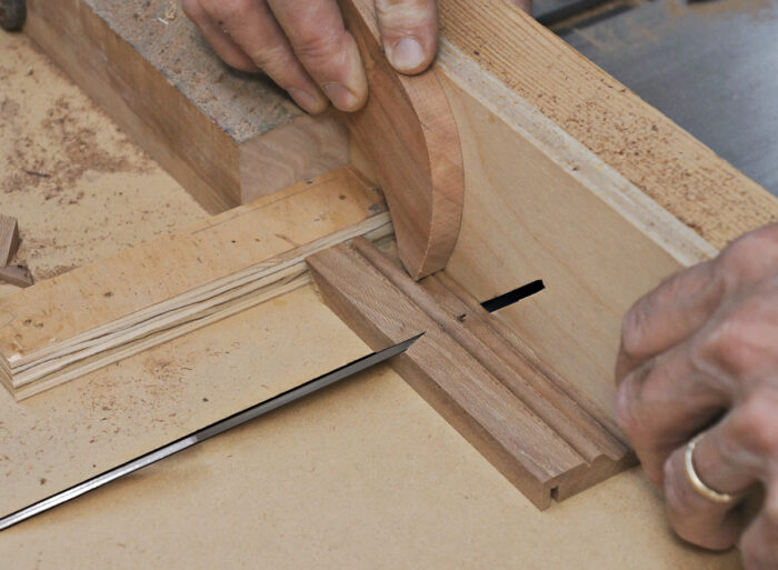 Use a spacer block.