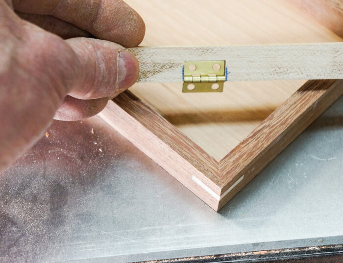 Cutting the story stick with a table saw sled